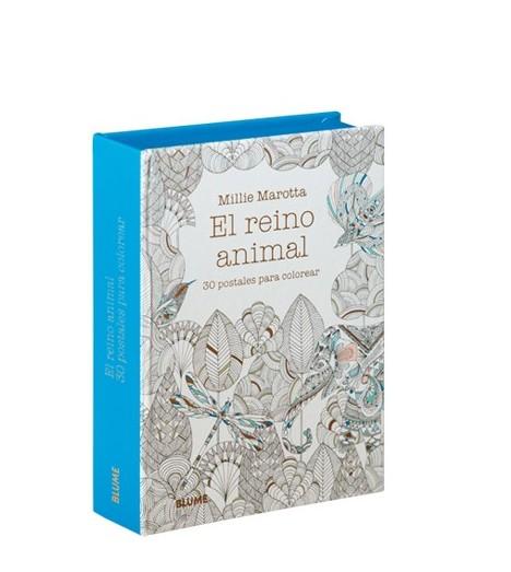 El reino animal. 30 postales para colorear